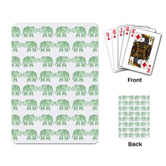 Indian Elephant Pattern Playing Card by Valentinaart