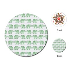 Indian Elephant Pattern Playing Cards (round)  by Valentinaart