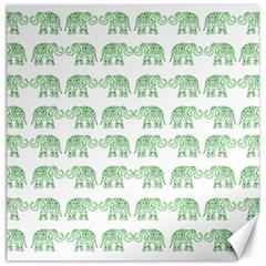 Indian Elephant Pattern Canvas 12  X 12