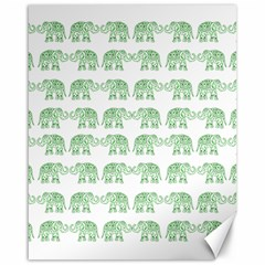 Indian Elephant Pattern Canvas 16  X 20   by Valentinaart
