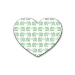 Indian Elephant Pattern Heart Coaster (4 Pack)  by Valentinaart