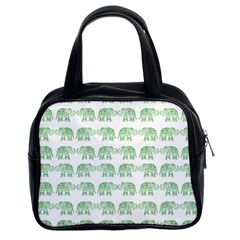 Indian Elephant Pattern Classic Handbags (2 Sides) by Valentinaart