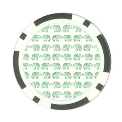 Indian Elephant Pattern Poker Chip Card Guard (10 Pack) by Valentinaart