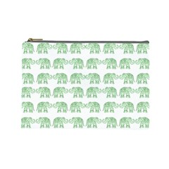 Indian Elephant Pattern Cosmetic Bag (large)  by Valentinaart