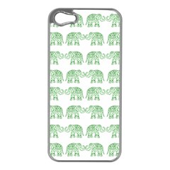 Indian Elephant Pattern Apple Iphone 5 Case (silver) by Valentinaart