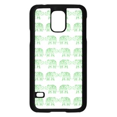 Indian Elephant Pattern Samsung Galaxy S5 Case (black) by Valentinaart