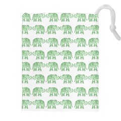 Indian Elephant Pattern Drawstring Pouches (xxl) by Valentinaart