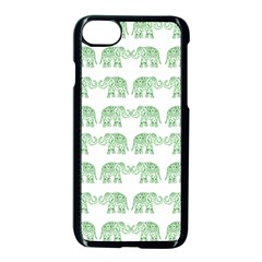 Indian Elephant Pattern Apple Iphone 7 Seamless Case (black) by Valentinaart