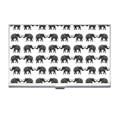 Indian Elephant Pattern Business Card Holders by Valentinaart
