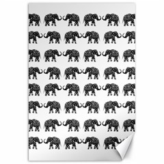 Indian Elephant Pattern Canvas 20  X 30   by Valentinaart