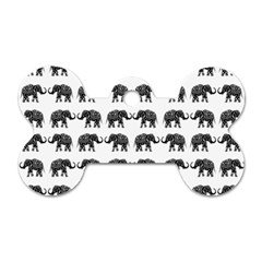 Indian Elephant Pattern Dog Tag Bone (one Side) by Valentinaart