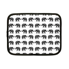 Indian Elephant Pattern Netbook Case (small)  by Valentinaart