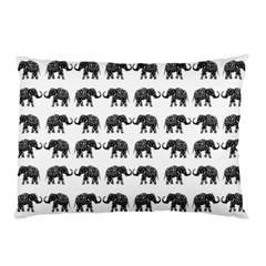 Indian Elephant Pattern Pillow Case by Valentinaart