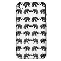 Indian Elephant Pattern Apple Iphone 4/4s Hardshell Case (pc+silicone) by Valentinaart