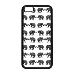 Indian Elephant Pattern Apple Iphone 5c Seamless Case (black) by Valentinaart