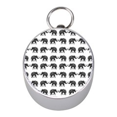Indian Elephant Pattern Mini Silver Compasses by Valentinaart