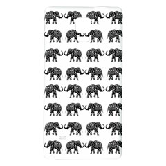 Indian Elephant Pattern Galaxy Note 4 Back Case by Valentinaart