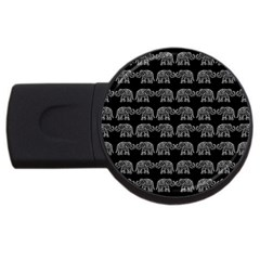 Indian Elephant Pattern Usb Flash Drive Round (4 Gb) by Valentinaart