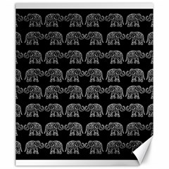 Indian Elephant Pattern Canvas 20  X 24   by Valentinaart
