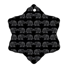 Indian Elephant Pattern Ornament (snowflake) by Valentinaart