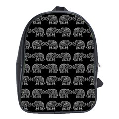 Indian Elephant Pattern School Bags (xl)  by Valentinaart