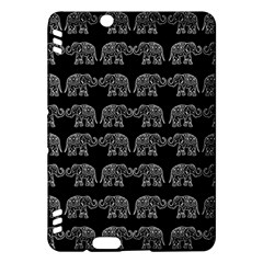 Indian Elephant Pattern Kindle Fire Hdx Hardshell Case by Valentinaart