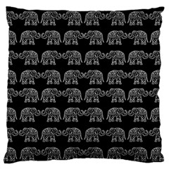 Indian Elephant Pattern Large Flano Cushion Case (one Side) by Valentinaart