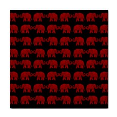 Indian Elephant Pattern Face Towel by Valentinaart