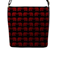 Indian Elephant Pattern Flap Messenger Bag (l)  by Valentinaart
