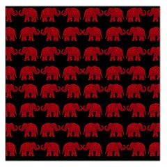 Indian Elephant Pattern Large Satin Scarf (square) by Valentinaart