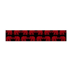 Indian Elephant Pattern Flano Scarf (mini) by Valentinaart