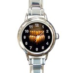 BOWLING PIN ROUND ITALIAN CHARM WATCH ball shoe