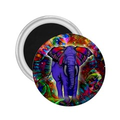 Abstract Elephant With Butterfly Ears Colorful Galaxy 2 25  Magnets by EDDArt