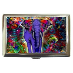 Abstract Elephant With Butterfly Ears Colorful Galaxy Cigarette Money Cases by EDDArt