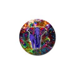 Abstract Elephant With Butterfly Ears Colorful Galaxy Golf Ball Marker (10 Pack) by EDDArt