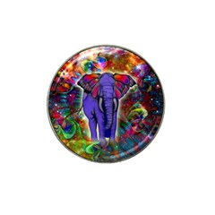 Abstract Elephant With Butterfly Ears Colorful Galaxy Hat Clip Ball Marker (4 Pack) by EDDArt