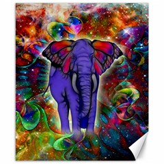 Abstract Elephant With Butterfly Ears Colorful Galaxy Canvas 8  X 10  by EDDArt