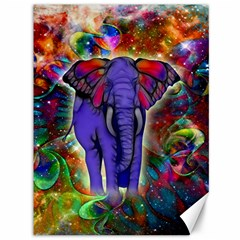 Abstract Elephant With Butterfly Ears Colorful Galaxy Canvas 36  X 48   by EDDArt