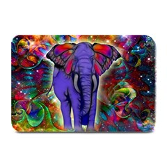 Abstract Elephant With Butterfly Ears Colorful Galaxy Plate Mats by EDDArt
