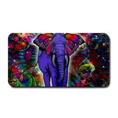 Abstract Elephant With Butterfly Ears Colorful Galaxy Medium Bar Mats by EDDArt