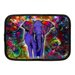 Abstract Elephant With Butterfly Ears Colorful Galaxy Netbook Case (medium)  by EDDArt