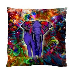 Abstract Elephant With Butterfly Ears Colorful Galaxy Standard Cushion Case (two Sides) by EDDArt
