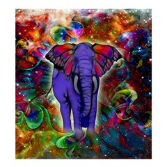 Abstract Elephant With Butterfly Ears Colorful Galaxy Shower Curtain 66  X 72  (large)  by EDDArt