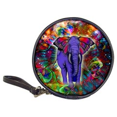Abstract Elephant With Butterfly Ears Colorful Galaxy Classic 20 Cd Wallets by EDDArt