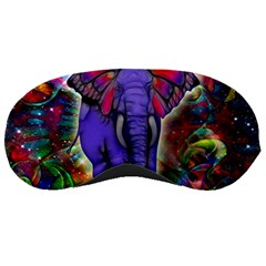 Abstract Elephant With Butterfly Ears Colorful Galaxy Sleeping Masks by EDDArt