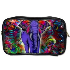 Abstract Elephant With Butterfly Ears Colorful Galaxy Toiletries Bags 2 Side by EDDArt