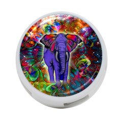 Abstract Elephant With Butterfly Ears Colorful Galaxy 4 Port Usb Hub (two Sides)  by EDDArt