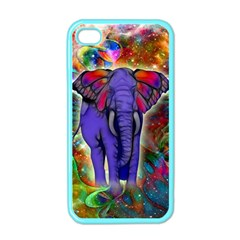 Abstract Elephant With Butterfly Ears Colorful Galaxy Apple Iphone 4 Case (color) by EDDArt