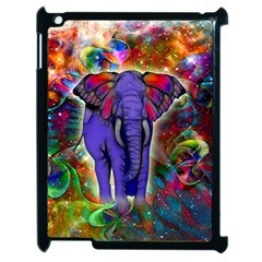 Abstract Elephant With Butterfly Ears Colorful Galaxy Apple Ipad 2 Case (black) by EDDArt