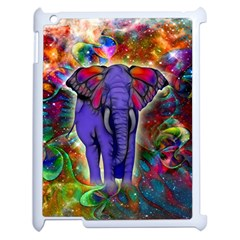 Abstract Elephant With Butterfly Ears Colorful Galaxy Apple Ipad 2 Case (white) by EDDArt